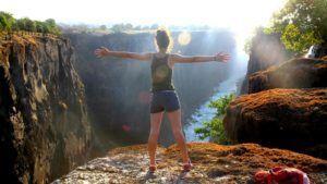 Nómada en las Cataratas Victoria, Zambia