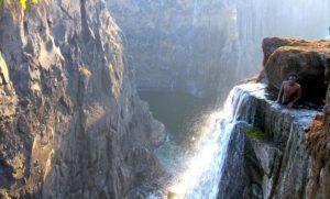 Una Devil`s Pool menos conocida en las Cataratas Victoria en Zambia