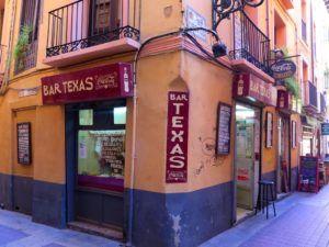 Bar el Texas, en Ruta por el Tubo de Zaragoza