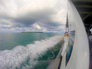 Ferry hacia Koh Rong, Camboya