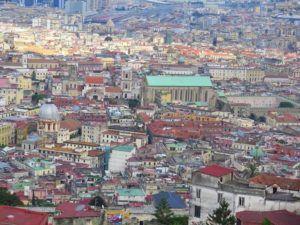 Vistas desde el Castillo de Sant Elmo, Nápoles