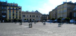 Plaza de los Héroes o plaza de las Sillas, Cracovia