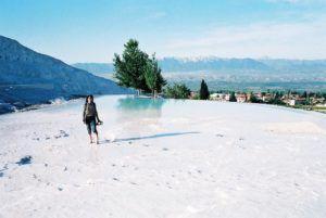 Pamukkale y sus piscinas blancas, Turquía