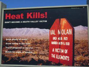 El calor mata en el Death Valley