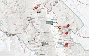 Mapa del Death Valley revelde (Localizaciones de Star Wars)