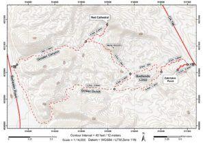 Mapa del valle de la muerte, Death Valley