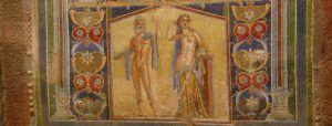 Maravilloso mosaico en Herculano, Nápoles