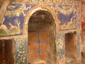 Mosaico en Herculano, Nápoles