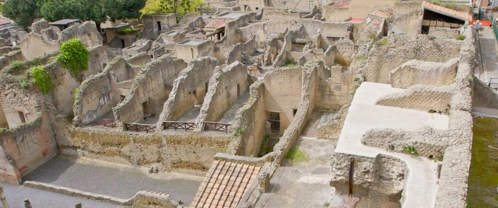 Vista general de Herculano, Nápoles