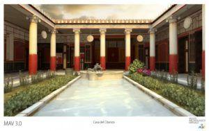 Interpretación de la Casa de los Papiros de Hercualno (fuente: Museo Archeologico Virtuale)