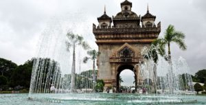 Puerta de la Victoria, Vientián, Laos