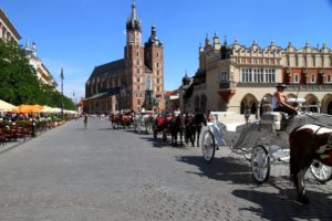 Plaza del Mercado de Cracovia (Polonia)