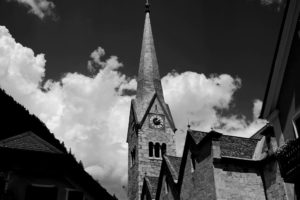 Iglesia Luterana, Plaza Markplatz, Hallstatt, Austria