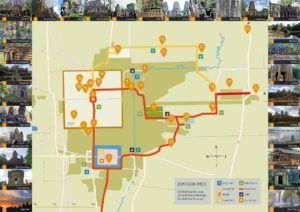 Mapa de la ciudad de Angkor