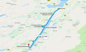 Mapa del Lago Ness, Escocia
