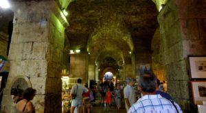 Las galerías subterráneas del Palacio de Diocleciano, Split