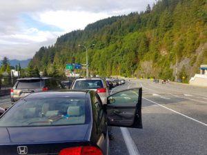 Esperando para subir al ferry camino a la Isla de Vancouver