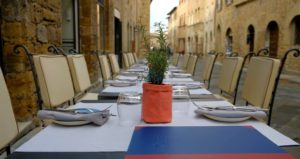 Restaurantes y heladerias de San Gimignano, Toscana