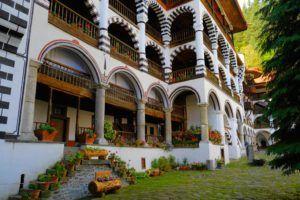 Edificios que conforman el Monasterio de Rila