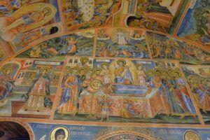 Interior del Monasterio, pintado por el maestro Zahari Zograf