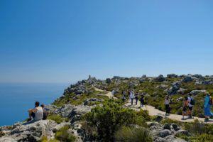 Rutas en la cima de Table Mountain
