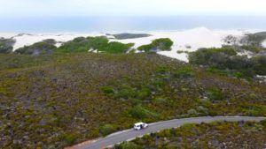 De Hoop Nature Reserve a vista de dron
