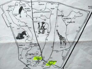 Mapa de Hlane Royal National Park