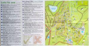 Mapa del Jardín Botánico de Kirstenbosch, Cape Town