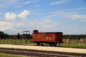 Tren en Birkenau