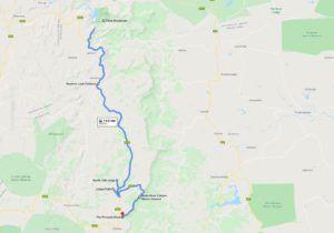 Ruta Panorama, mapa e itinerario