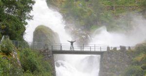Cascada Kleivafossen, Parque Nacional de Jostedal, Noruega