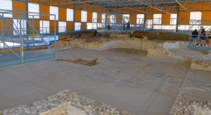 Vista del Mosaico de Noheda, Cuenca