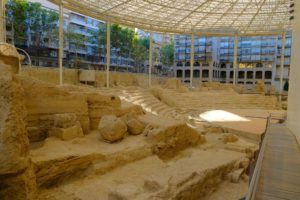 Pasarelas del Museo del Teatro de Zaragoza