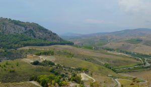Vistas del valle y del Templo de Segesta, Sicilia