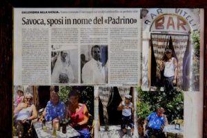 """Recorte de prensa que hace mención al rodaje de """"El Padrino"""" en Savoca"""