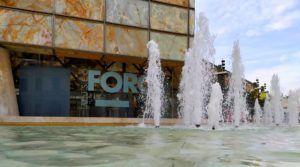 Entrada por la Plaza de la Seo al Museo del Foro, Zaragoza