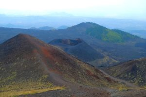 Vistas del cráter Silvestri