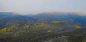 Recorrido del funicular que sube al Volcán Etna