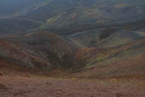 Cráter Silvestri superior del Etna