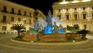 Fuente de Diana, Plaza Archime, Siracusa