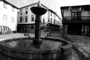 Plaza Mayor de San Martín de Trevejo, Sierra de Gata, Caceres