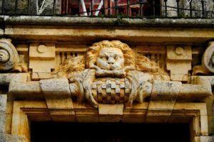 León en el Palacio de Goyeneche, Nuevo Baztán